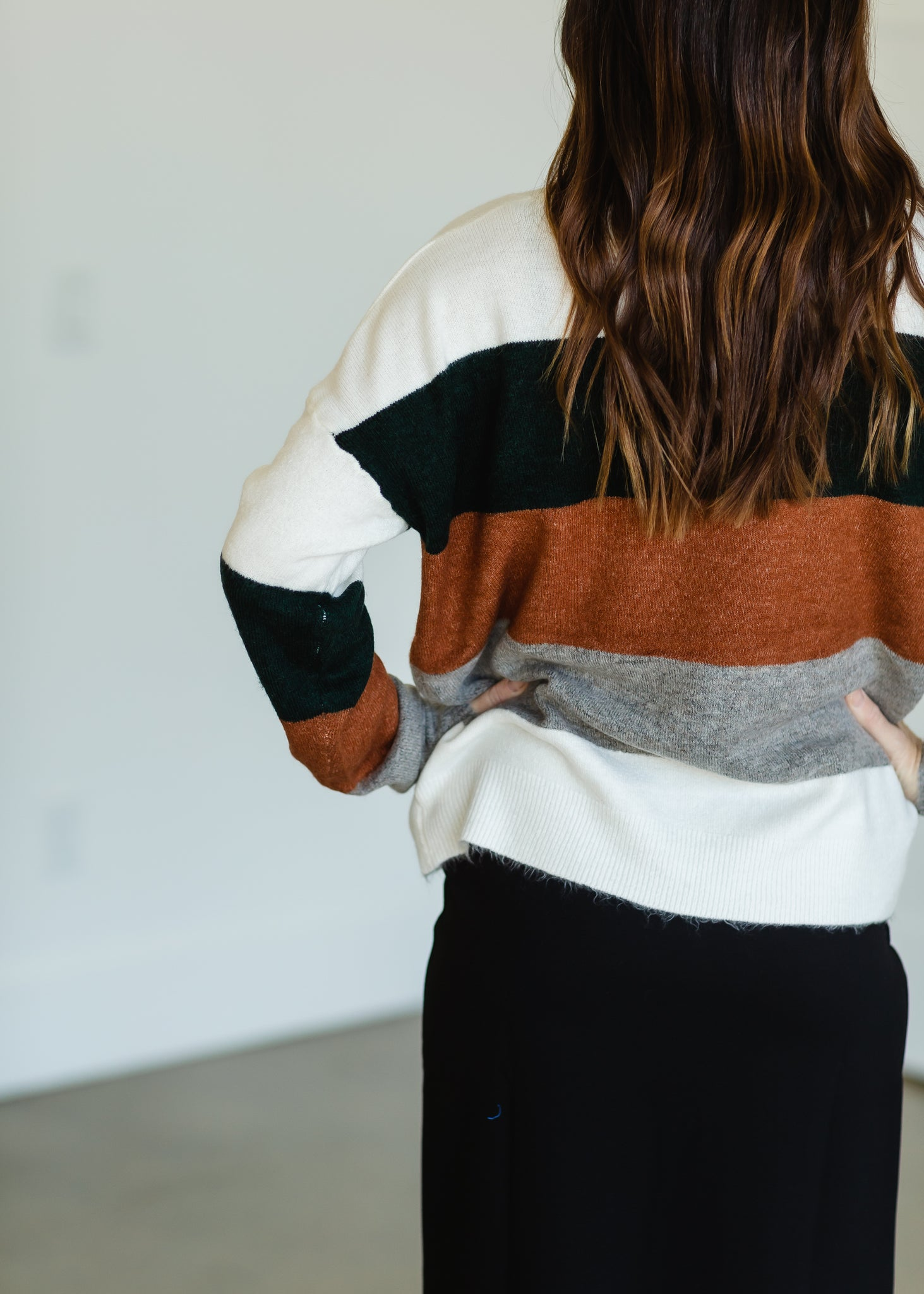 Forest Striped Long Sleeve Sweater - FINAL SALE