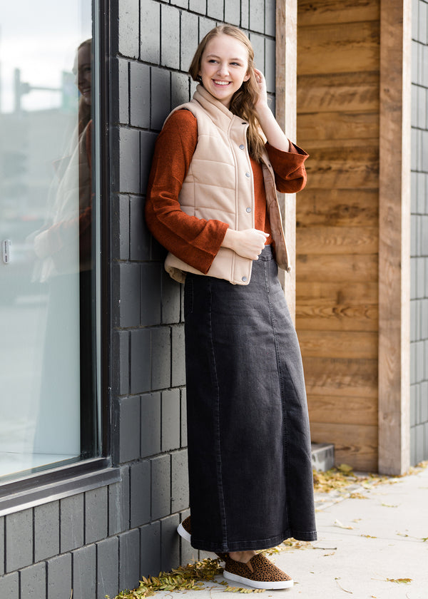 Inherit Co.  | Modest Women's Skirts | Donna Long Denim Skirt