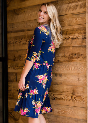 Floral Tiered Midi Dress - FINAL SALE