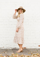 Inherit Co.  | Women's New Arrivals | Ditsy Print Cream Floral Midi Dress