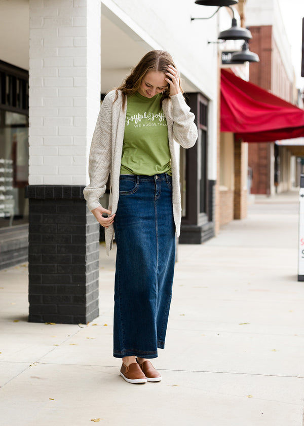 Inherit Co.  | Inherit Exclusives | Bria Long Denim Skirt