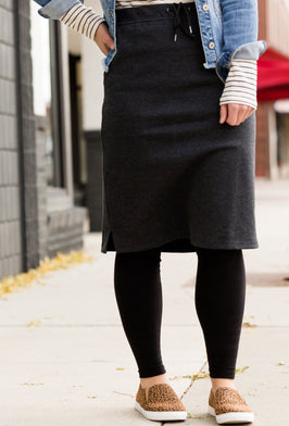 Inherit Co.  | Amanda's Favorites! | Bryn Midi Denim Skirt |