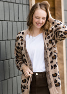 Leopard Knit Sweater Cardigan - FINAL SALE
