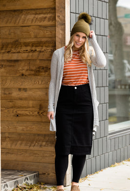 Inherit Co.  | Inherit Originals | Stella Black Colored Denim Skirt |