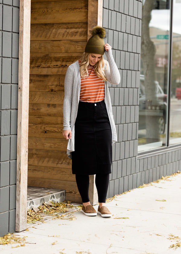Inherit Co.  | Inherit Originals | Remi Black Midi Skirt