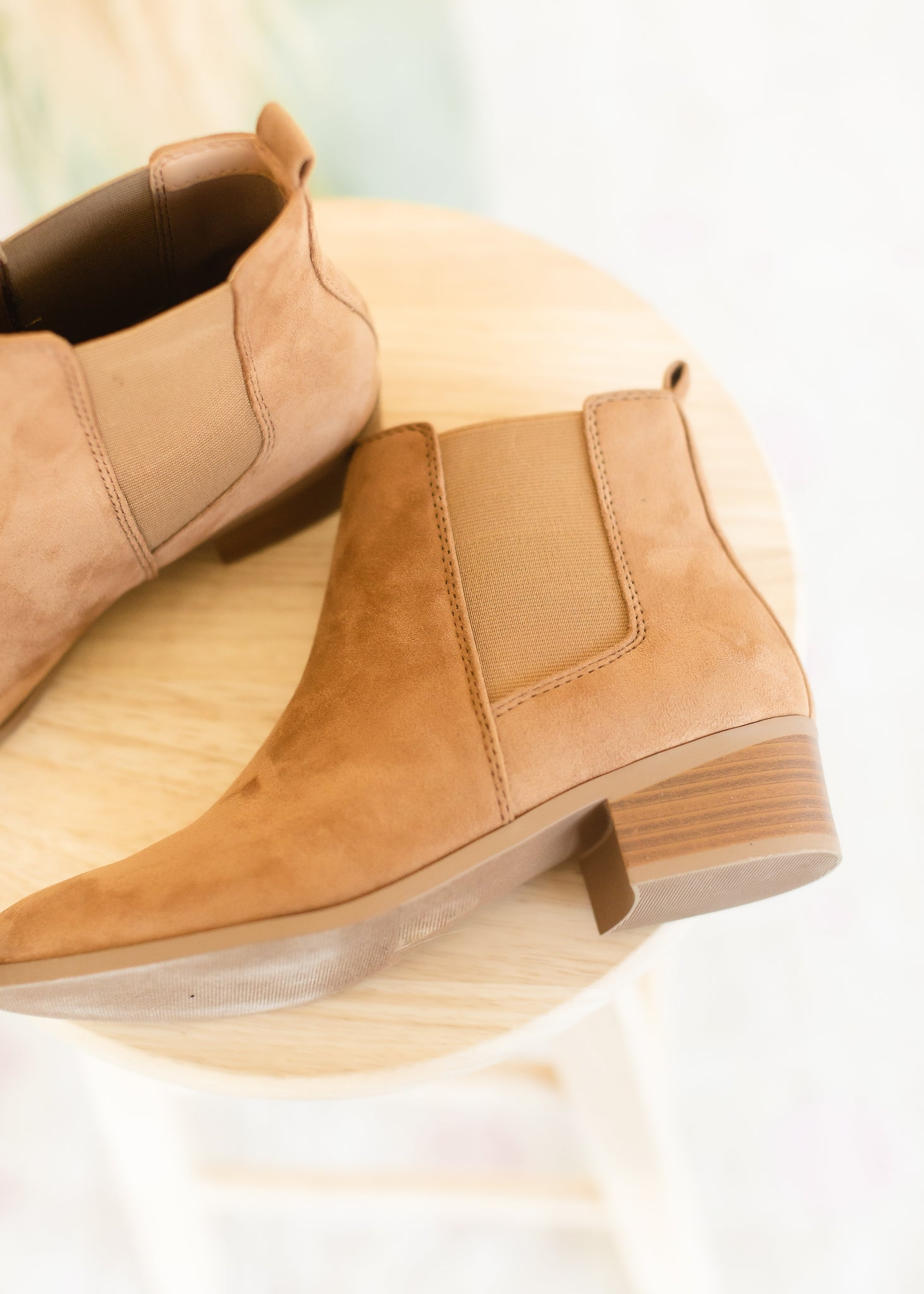 Brown Suede Ribbed Bootie - FINAL SALE