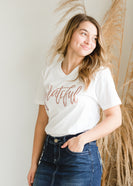 Grateful V-Neck Graphic Tee - FINAL SALE