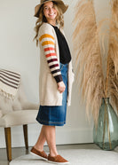 Cozy Striped Warm Cardigan - FINAL SALE