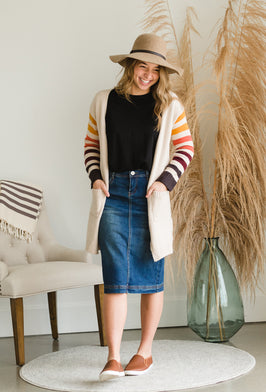 Inherit Co.  | Inherit Originals | Gwen Long Corduroy Skirt |