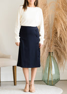 Faux Wrap Midi Pencil Skirt - FINAL SALE