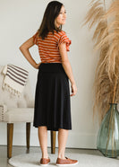 Inherit Co.  | Modest Plus Size Clothing | Hana Knit A-Line Midi Skirt