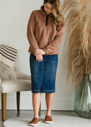Bryn Midi Denim Skirt - FINAL SALE