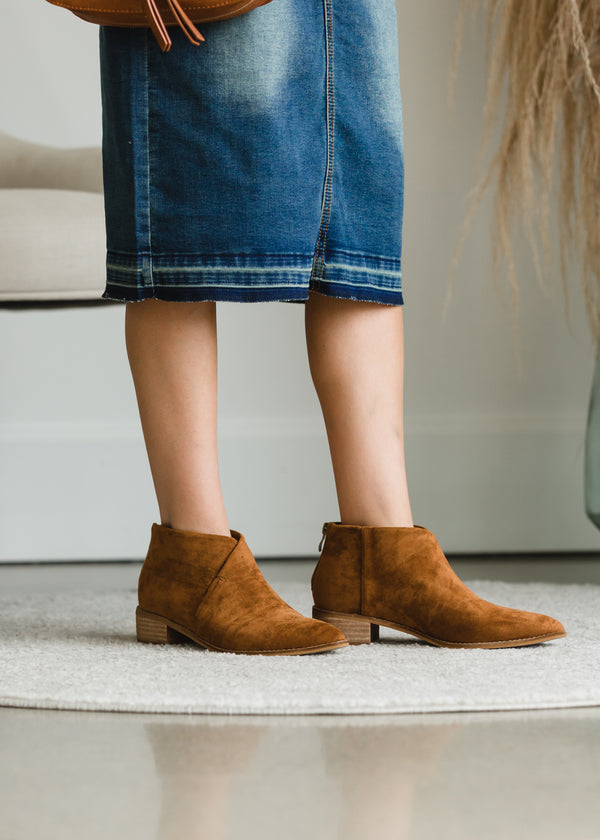 Inherit Co.  | Shoes | Camel Faux Leather Bootie