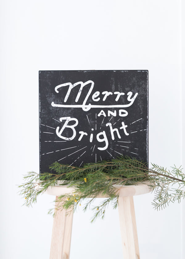 Inherit Co.  | Home + Lifestyle | Merry + Bright Wood Wall Decor - FINAL SALE