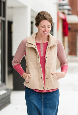 French Terry Padded Puffer Vest
