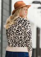 Ribbed Leopard Print Sweater - FINAL SALE