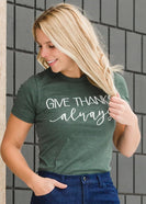 Give Thanks Graphic Tee - Final Sale