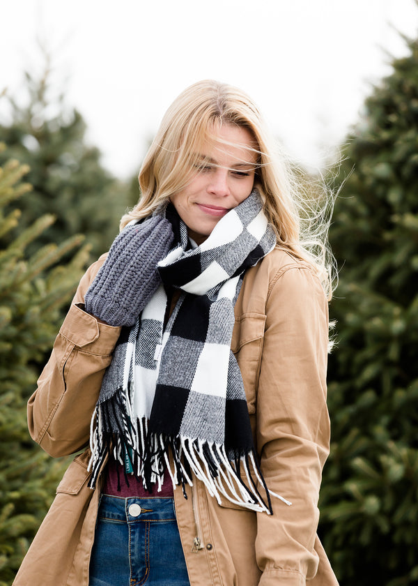 Inherit Co.  | Women's Accessories | Sota' Clover Buffalo Check Scarf