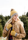 Pom Pom Fleece Lined Hat or Mittens - FINAL SALE