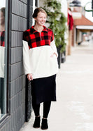 Color Block Sherpa Sweater