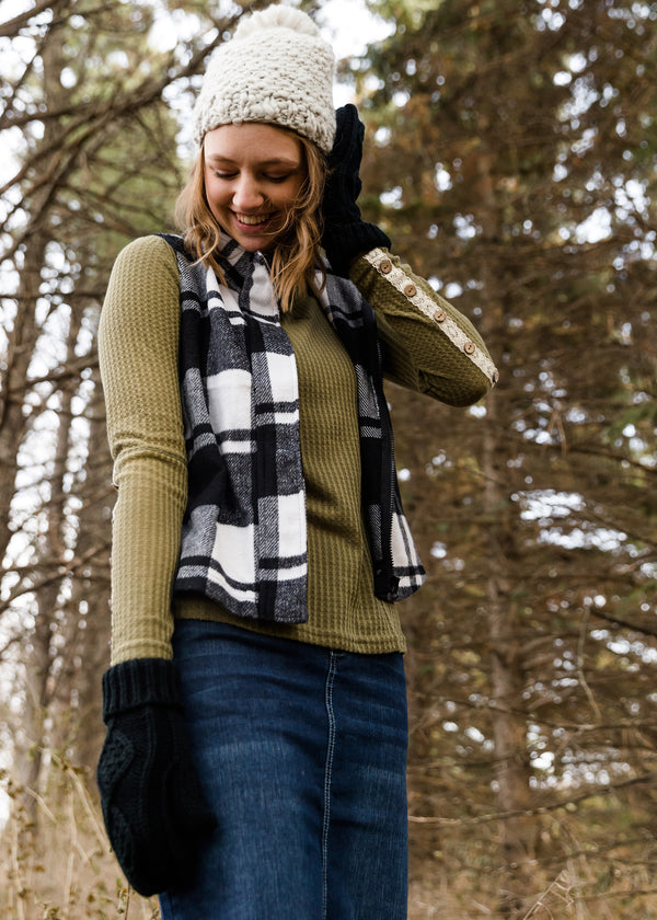 Inherit Co.  | Modest Women's Tops | Buffalo Plaid Hooded Vest