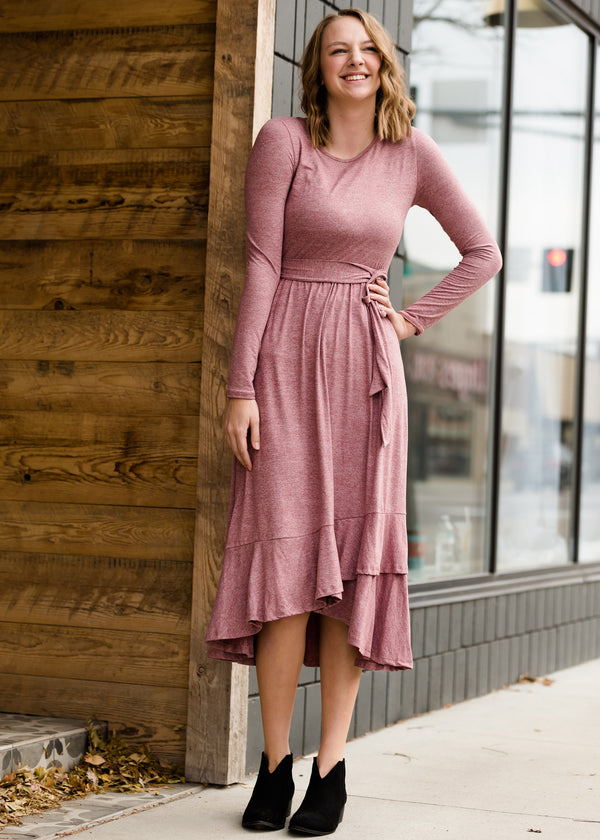 Inherit Co.  | Women's Modest Dresses | Tiered Ruffle Midi Dress