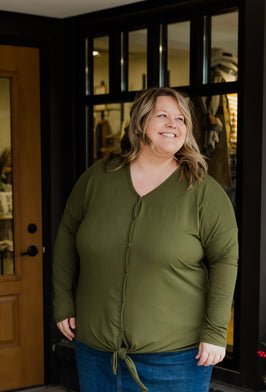 Inherit Co.  | Modest Plus Size Clothing | Thermal Striped Contrast Top |