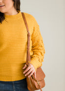 Open Weave Cable Knit Sweater - FINAL SALE