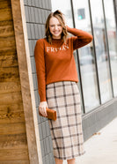 Inherit Co.  | Modest Women's Skirts | Plaid Pencil Midi Skirt