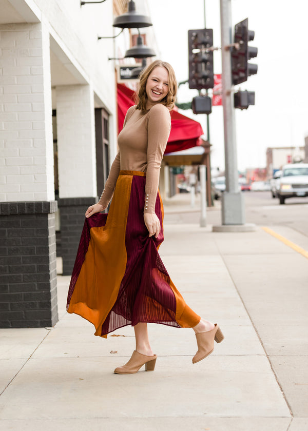 Inherit Co.  | Modest Women's Skirts | Colorblock Maxi Skirt - FINAL SALE