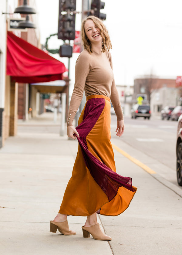 Inherit Co.  | Modest Women's Skirts | Colorblock Maxi Skirt