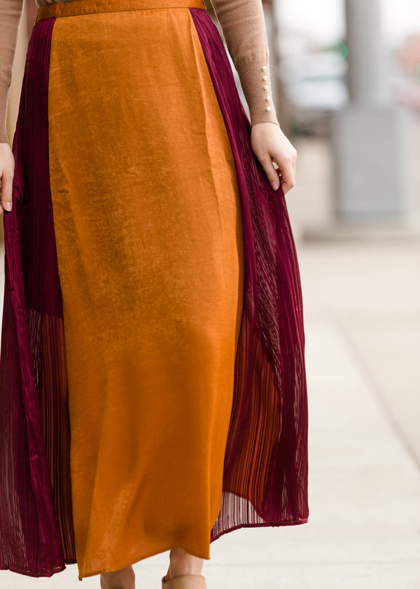 Inherit Co.  | Winter Clearance | Colorblock Maxi Skirt - FINAL SALE