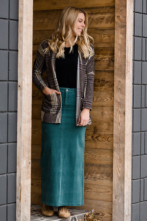 Gwen Long Corduroy Skirt - FINAL SALE