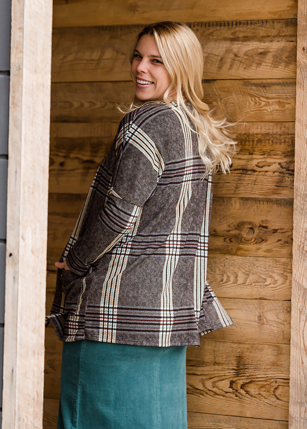 Inherit Co.  | Women's New Arrivals | Patch Pocket Plaid Cardigan