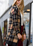 Plaid Open Front Cardigan - FINAL SALE