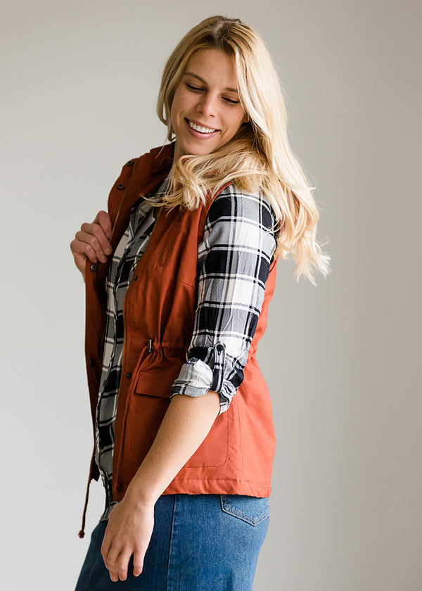 Inherit Co.  | Modest Women's Tops | Cozy Sherpa Button Up Vest