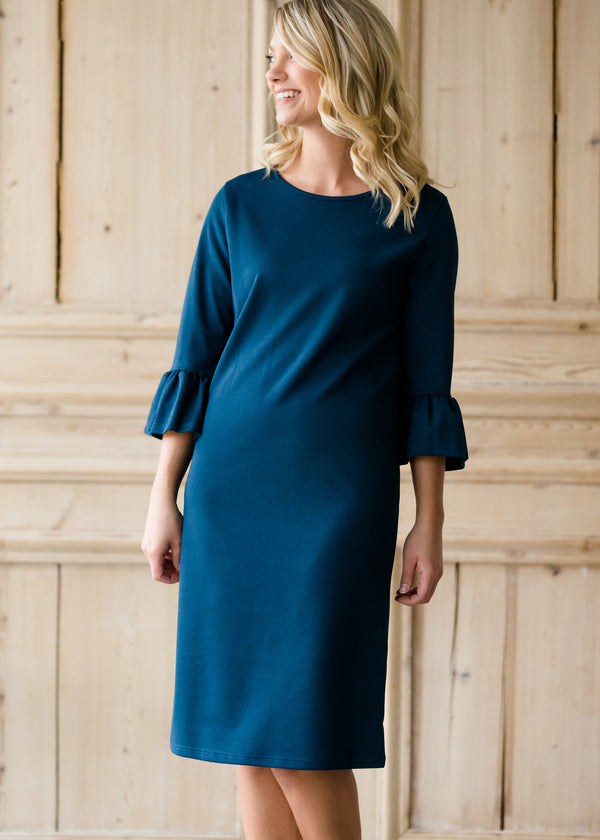 Inherit Co.  | Women's New Arrivals | Trumpet Sleeve Midi Dress