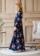 Inherit Co.  | Women's New Arrivals | Long Sleeve Floral Maxi Dress