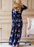 Inherit Co.  | Girls Modest Clothing | Long Sleeve Floral Maxi Dress