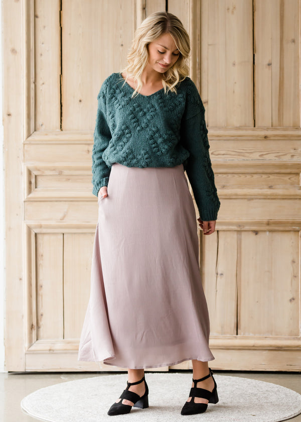 Inherit Co.  | Modest Women's Skirts | Textured Woven A-Line Skirt