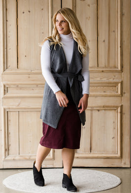Inherit Co.  | Inherit Exclusives | Remi Slate Midi Skirt - FINAL SALE |