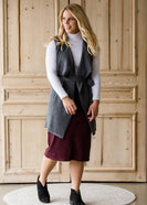 Fly Away Belted Sweater Vest - FINAL SALE
