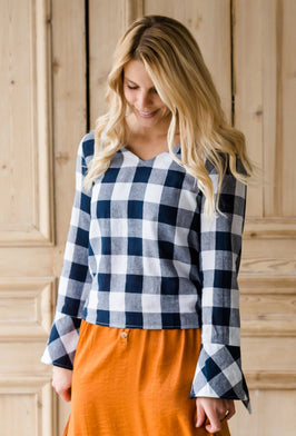 Inherit Co.  | Modest Women's Tops | Warm Color Block Striped Sweater |