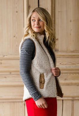 Reversible Sherpa Padded Vest - FINAL SALE