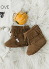 Brown Moccasin Baby Booties - FINAL SALE