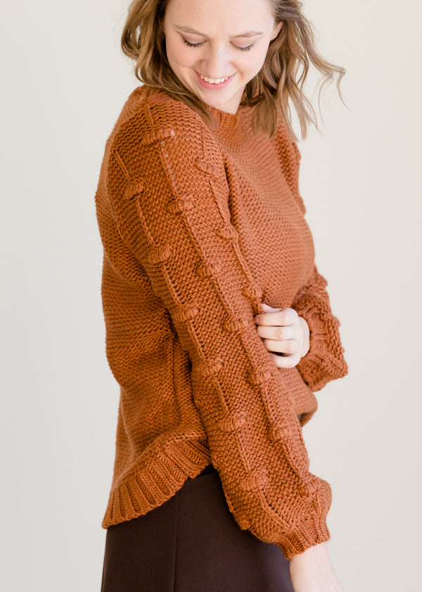 Inherit Co.  | Modest Women's Tops | Puff Sleeve Crew Neck Sweater