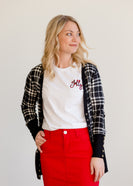 Inherit Co.  | Winter Clearance | Jolly Buffalo Check Graphic Tee-FINAL SALE