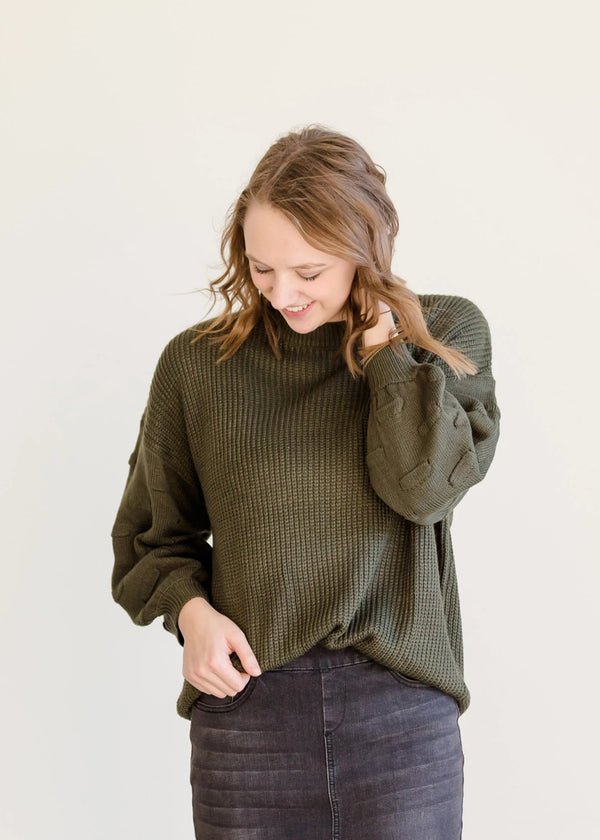 Inherit Co.  | Modest Women's Tops | Bubble Sleeve Pullover Sweater