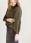 Bubble Sleeve Pullover Sweater - FINAL SALE