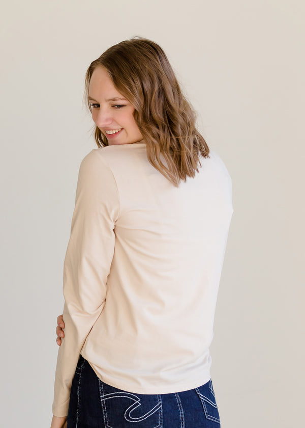 Inherit Co.  | Modest Women's Tops | Embroidered Long Sleeve Top